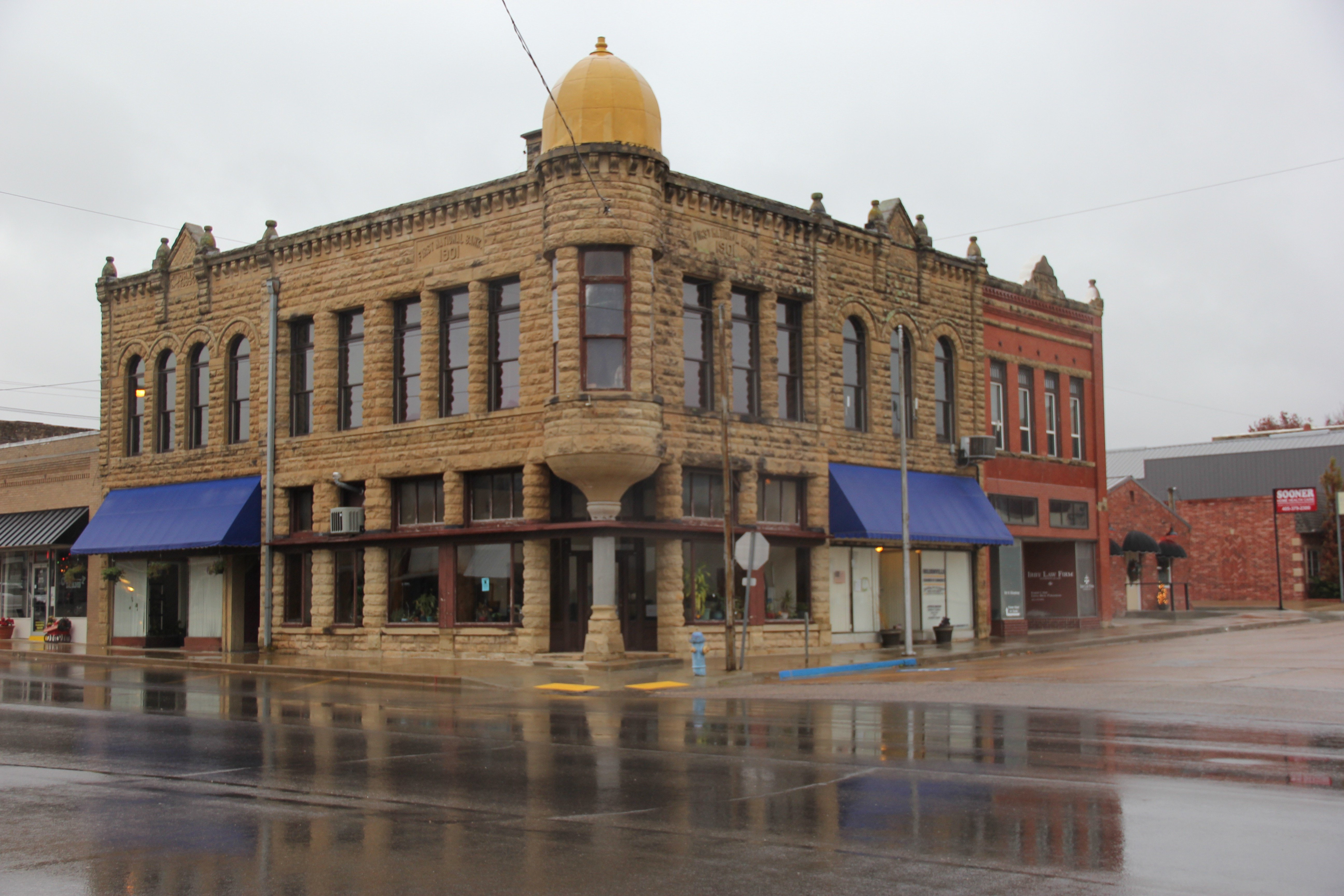 """Main Street in downtown Holdenville. Brownie remembered how he and his friends used to """"drag main every Saturday night"""" They'd go up and down the block in their muscle cars."""