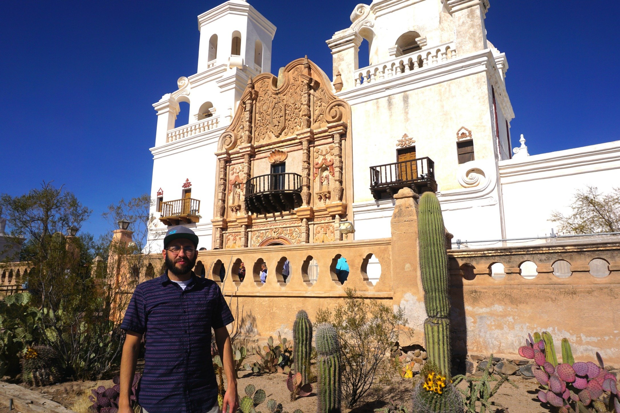 Mission San Xavier del Bac on a Saturday morning.